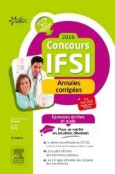 Concours IFSI 2016 - Annales corrigées