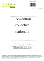 Convention collective nationale Cabinet dentaire 2016 + Grille de Salaire