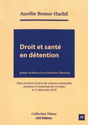 droit et sante en detention