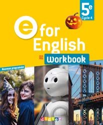E for English 5e (éd.2017) : Workbook - Version Papier