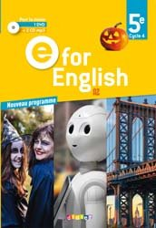 E for English 5e (éd. 2017) : Coffret Classe 2 CD Audio + 1 DVD