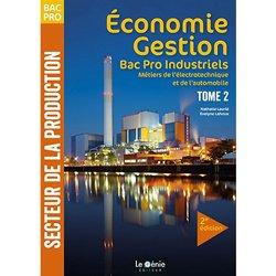 Economie gestion, bac pro industriels : métiers de l'électrotechnique et de l'automobile