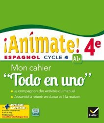 Espagnol 4e Animate! A1+ - Mon Cahier