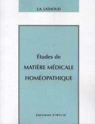 Etudes de matière médicale homéopathique