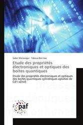 Etude des propriétés électroniques et optiques des boites quantiques