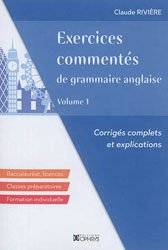 EXERCICES COMMENTES GRAMMAIRE ANGLAISE 1