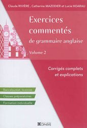 EXERCICES COMMENTES GRAMMAIRE ANGLAISE 2