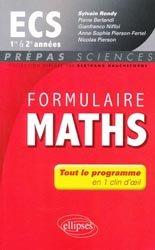 Formulaire maths ECS 1e et 2e année