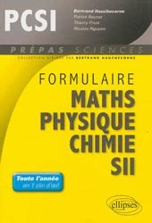 Formulaire PCSI Maths - Physique - Chimie - SII