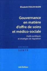 Gouvernance en matière d'offre de soins et médico-sociale