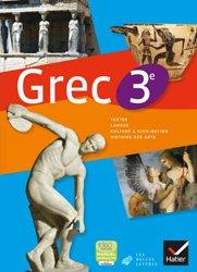 Grec 3e : Manuel de l'Élève