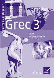Grec 3e : Livre du Professeur