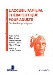 L'accueil familial thérapeutique pour adulte