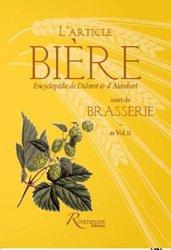 L'article Bière; suivi de Brasserie