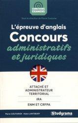 L'épreuve orale d'anglais aux concours administratifs et juridiques