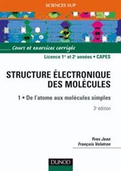 La structure électronique des molécules