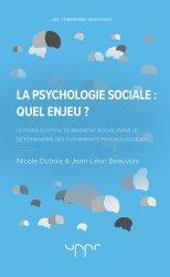 La psychologie sociale : quel enjeu ?