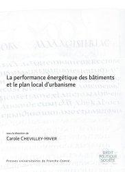 La performance énergétique des bâtiments et le plan local d'urbanisme