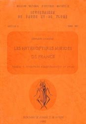 Les hétéroptères Mirides de France Tome 2 B : inventaire biogéographique et atlas