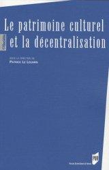 Le patrimoine culturel et la décentralisation