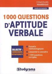 1000 questions d'aptitude verbale