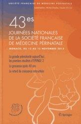 43es Journées nationales de la société Française de médecine périnatale