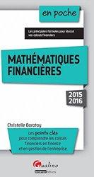 Mathématiques financières 2015-2016