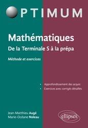 Mathématiques : De la Terminale S à la prépa