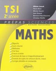 Maths TSI 2e année