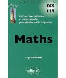 Mathématiques ECS-1 1er semestre