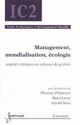 Management, mondialisation, écologie