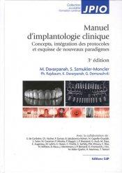 Manuel d'implantologie clinique