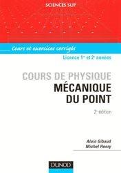 Cours de physique - Mécanique du point Cours et exercices corrigés
