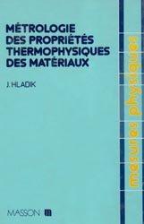 Métrologie des propriétés thermophysiques des matériaux