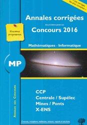 MP Mathématiques Informatique 2016