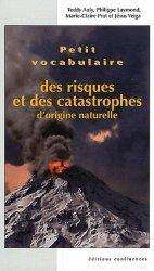 Petit vocabulaire des risques et catastrophes d'origine naturelle