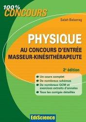 Physique au concours d'entrée Masseur-Kinésithérapeute