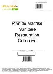 Plan de Maîtrise Sanitaire (PMS) Restauration collective