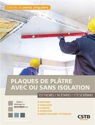 Plaques de plâtre avec ou sans isolation