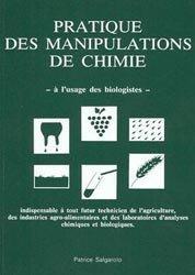 Pratique des manipulations de chimie à l'usage des biologistes