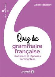 Quiz de grammaire française