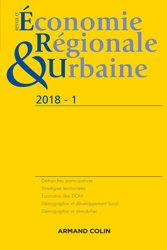 Revue d'économie régionale et urbaine nº 1/2018 Varia