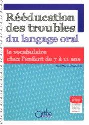 Rééducation des troubles du langage oral : le vocabulaire de 7 à 11 ans