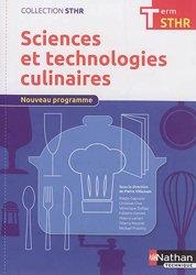 Sciences et technologies culinaires Tle STHR