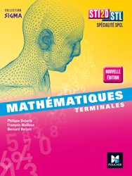 Sigma - Mathématiques Tle STI2D-STL