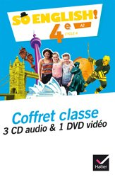 So English! 4e (2017) : Coffret Classe 3 CD Audio et 1 DVD Vidéo