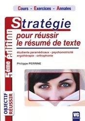Stratégie pour réussir le résumé de texte