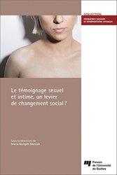 Témoignage sexuel et intime, un levier de changement social?