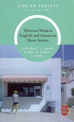 THIRTEEN MODERN ENGLISH AND AMERICAN