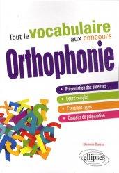 Tout le vocabulaire au concours Orthophonie